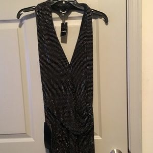 Bebe black beaded dress